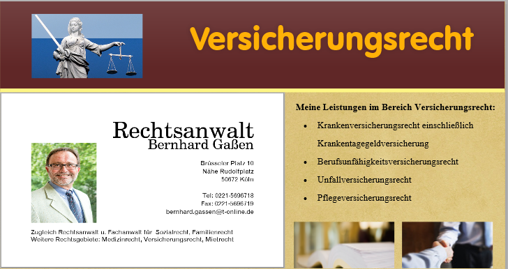 Anwalt Versicherungsrecht Köln I Mietrecht